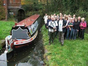Ian Dudson completed his Staffordshire Canal Challenge at the Froghall terminus of the Caldon CanalPhoto Julie Arnold, Waterway Images