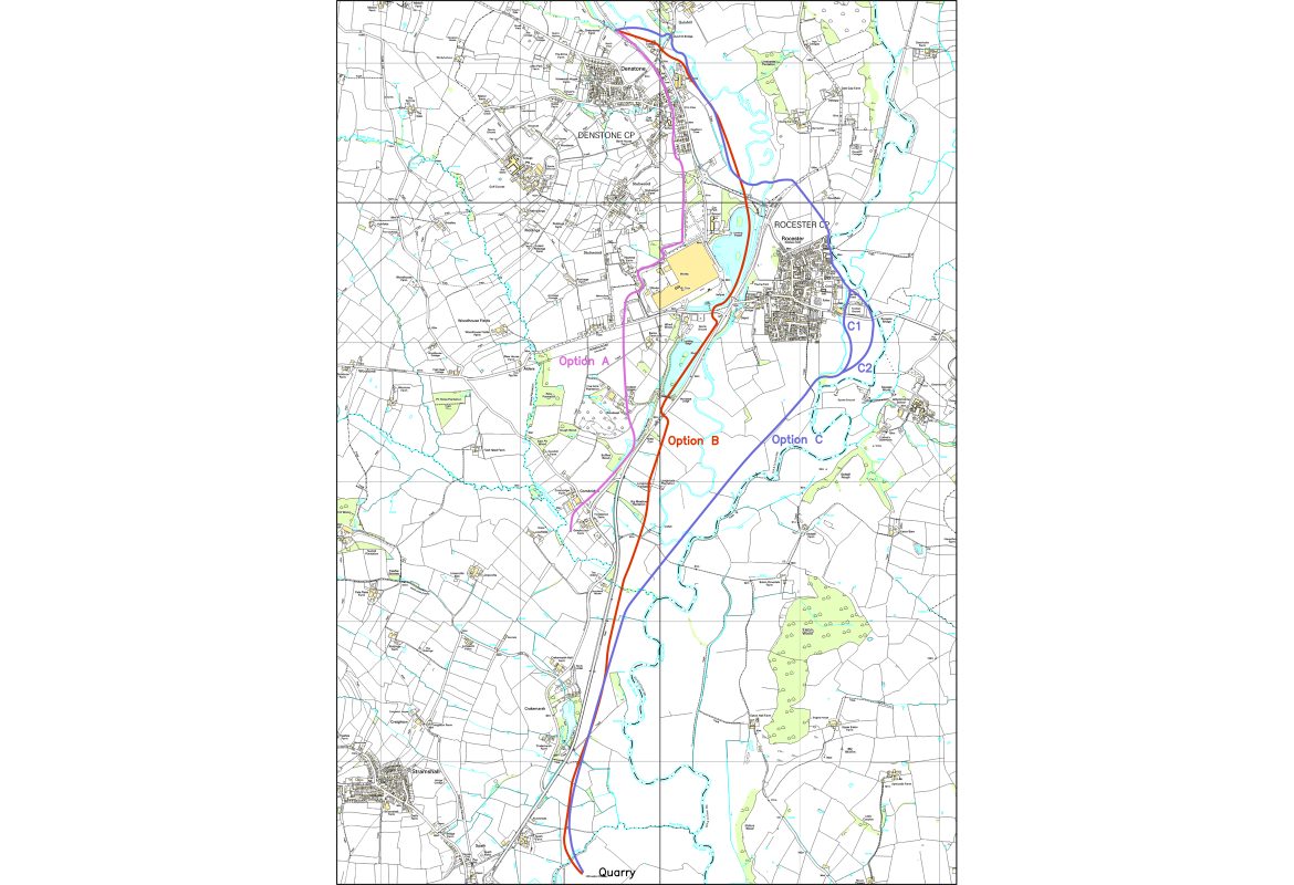 Halcrow study 2009 - route options