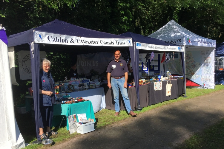 CUCT stall at Etruria Canals Festival 2018