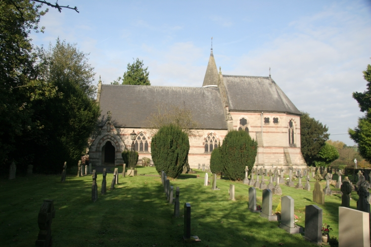 Denstone Church, on the line of the canal