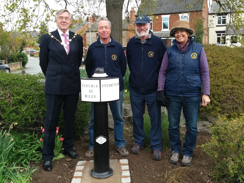 Photocall on completion of the milepost project