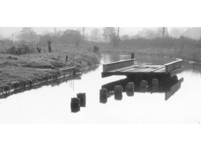 Turntable over the Caldon Canal leading to Victoria Mill