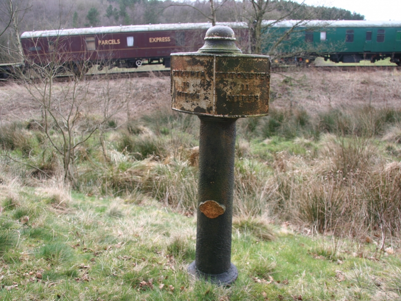 Milepost 19 with Churnet Valley Railway in 2008. The line has since been taken up in this area.
